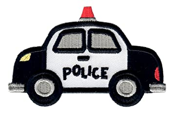 patchmommy iron on applique patch police car kids baby