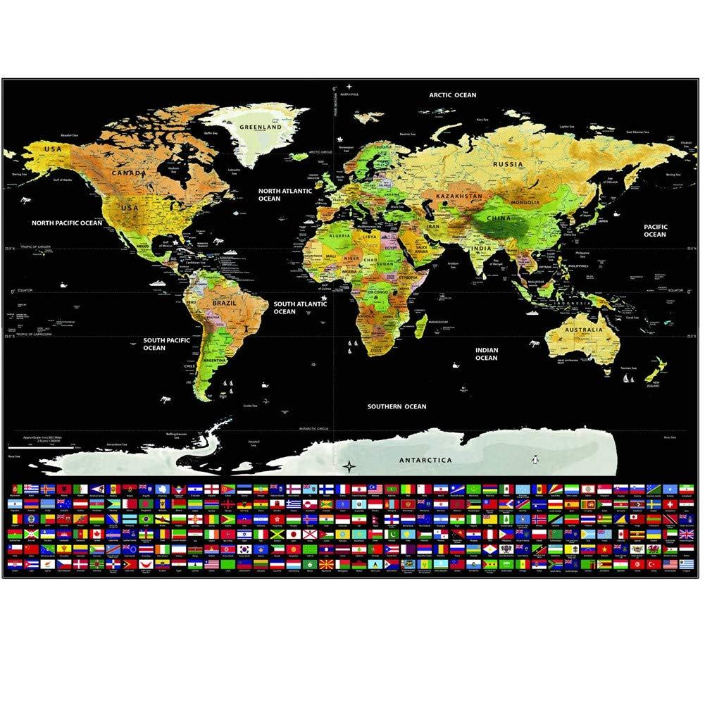 Cartina Mondo Gratta.Argento Nero Guifier Mappa Del Mondo Da Grattare Cartina Mondo Da Grattare Poster Con Bandiere Gratta La Mappa Scratch Mappa Di Viaggio Perfetto Per Viaggiatori Esploratori Geografia Commercio Industria E Scienza Aaaid Org