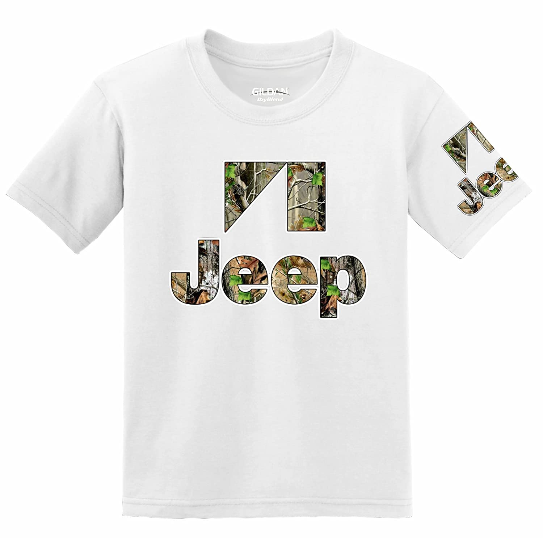 Jeep Camo Logo with Sleeve T-shirt