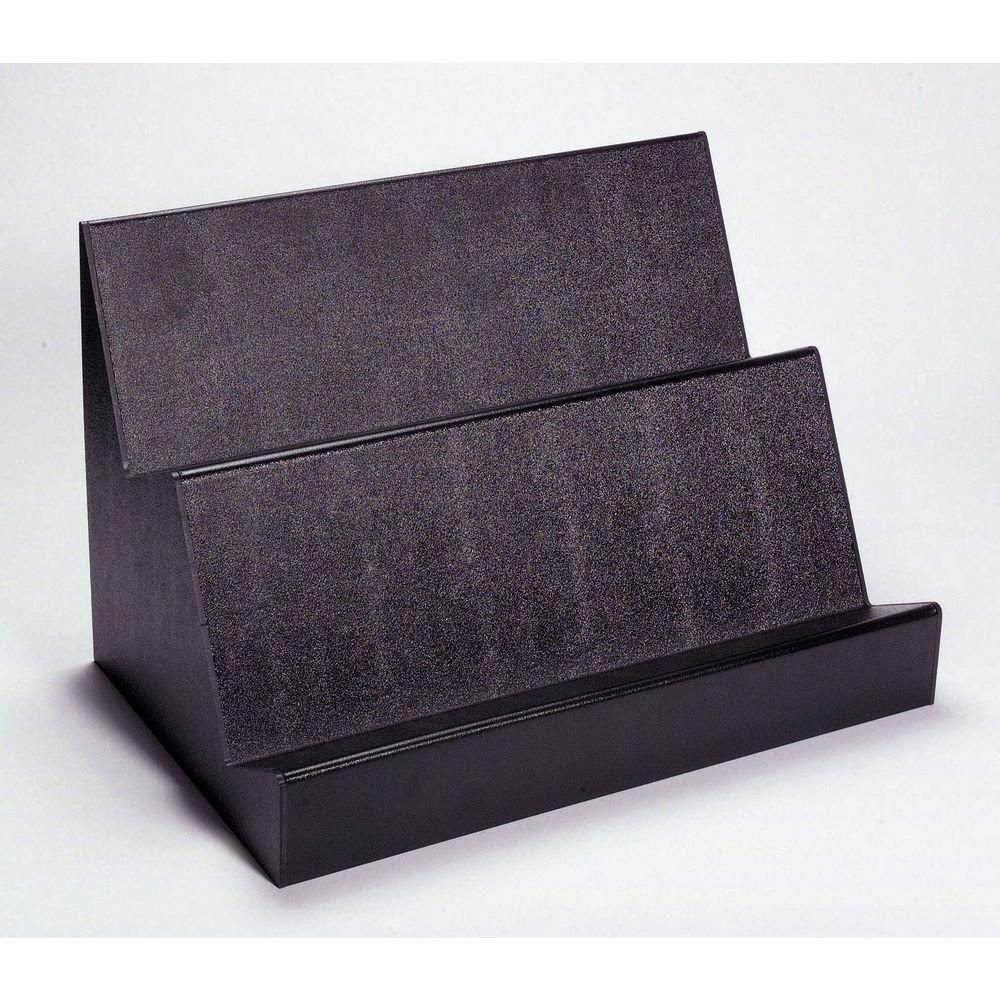 Deli Riser For Bulk Meats and Loafs 2-Step Black ABS Plastic - 24' L x 15 3/4 W x 16' H Hubert
