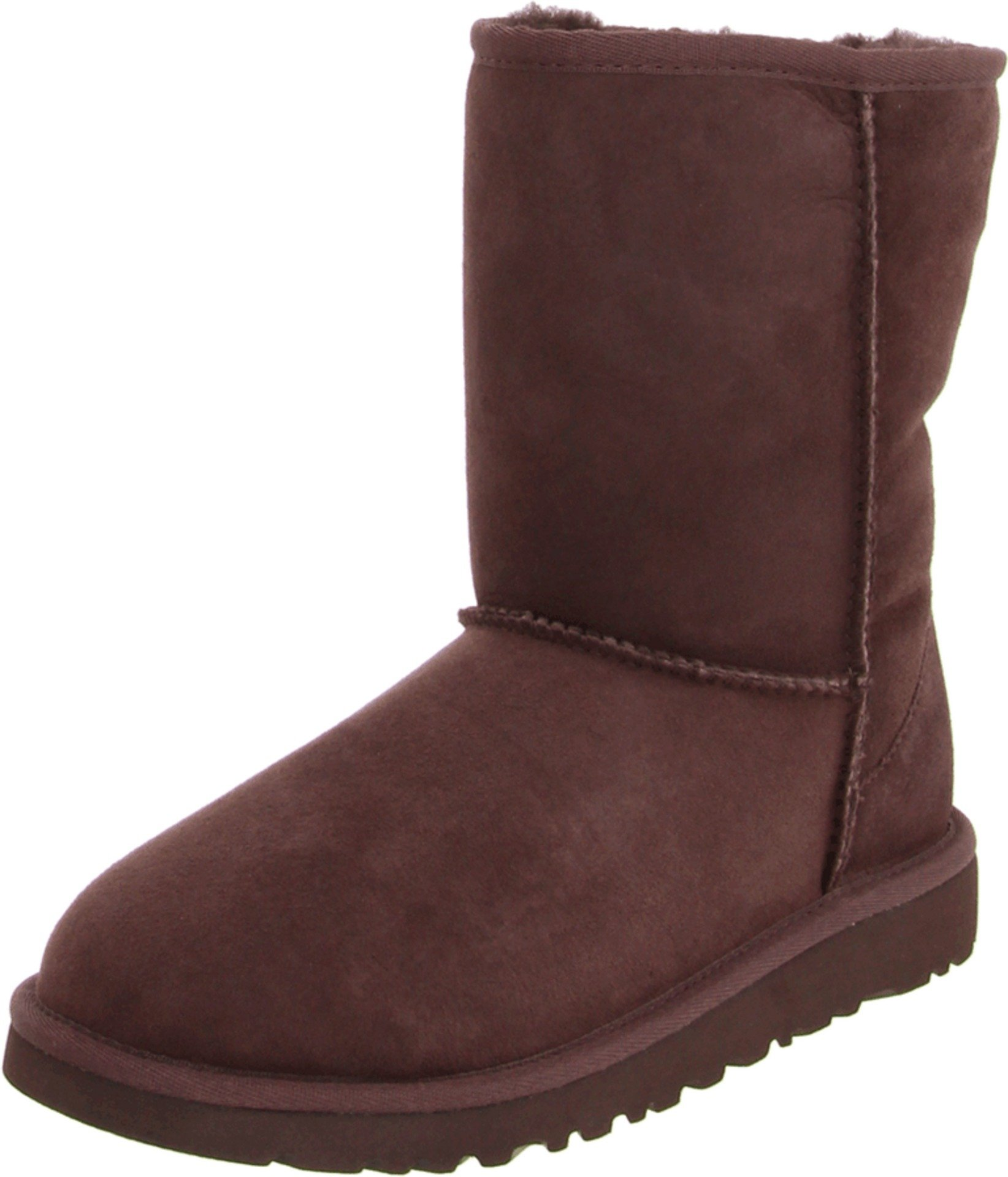 UGG Australia Girls' Classic Short Sheepskin Fashion Boot Chocolate 3 M US
