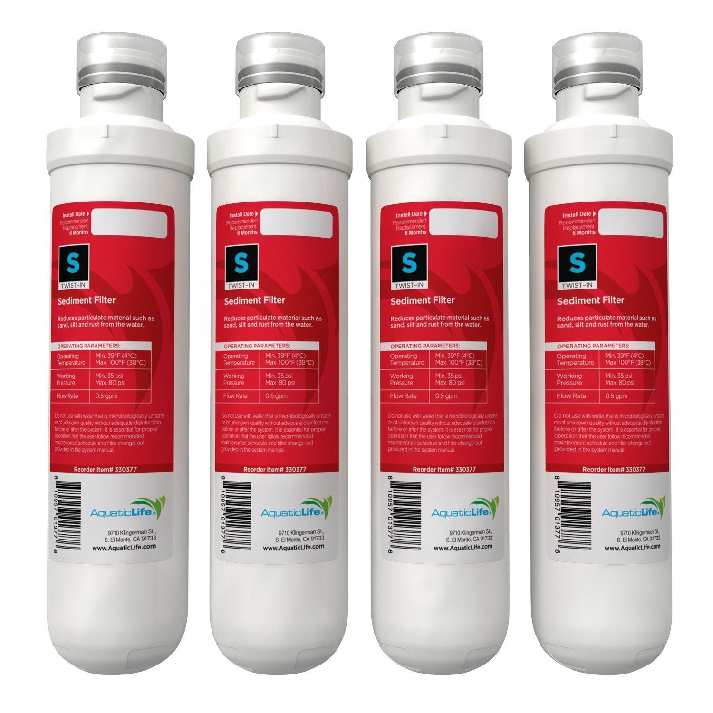 Sediment Aquatic Life Twist-in Sediment PRE-Filter Cartridge 4-Pack