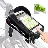 Tricodale Bolsa Bicicleta Cuadro de montaña Impermeable Funda Soporte Mochila móvil Bici Decathlon con desbloqueo Touch