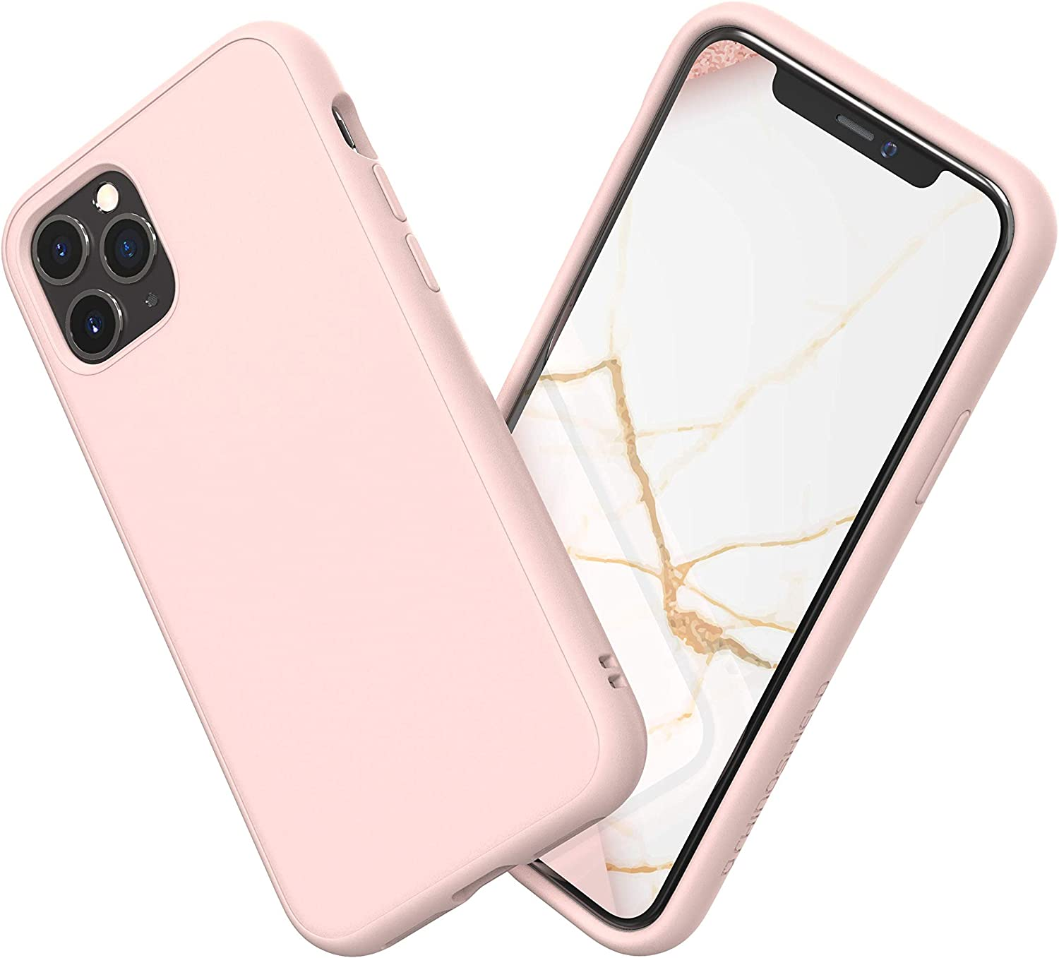 Amazon.com: RhinoShield Case Compatible with [iPhone 11 Pro Max] |  SolidSuit - Shock Absorbent Slim Design Protective Cover with Premium Matte  Finish 3.5M / 11ft Drop Protection - Blush Pink
