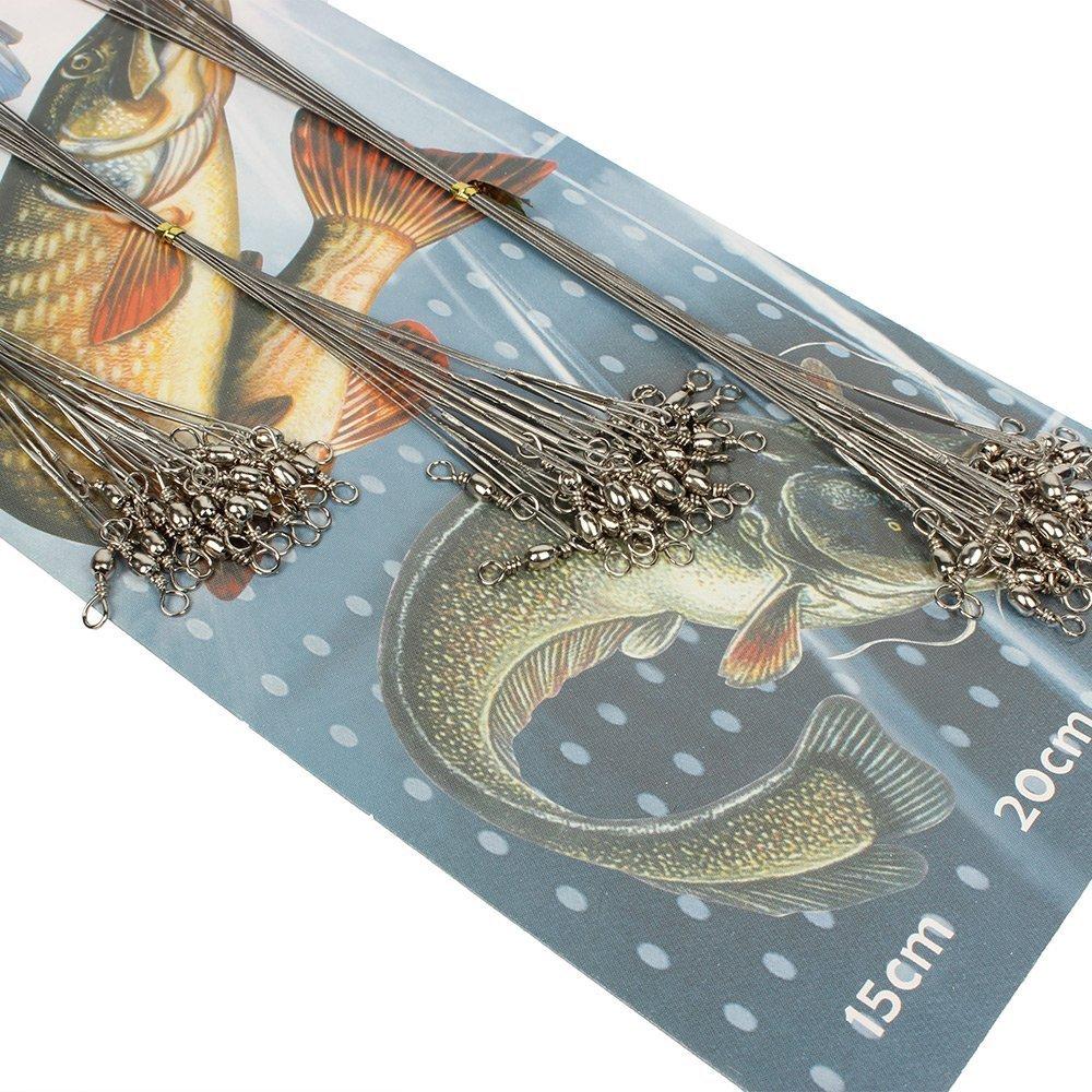 【全品送料無料】 Fishing Wire 100pcs Leader B01FX68K8E 海水用ステンレスラインワイヤーリーダー Wire 釣り具 100pcs B01FX68K8E, NSB onlineshop:68763cfe --- a0267596.xsph.ru