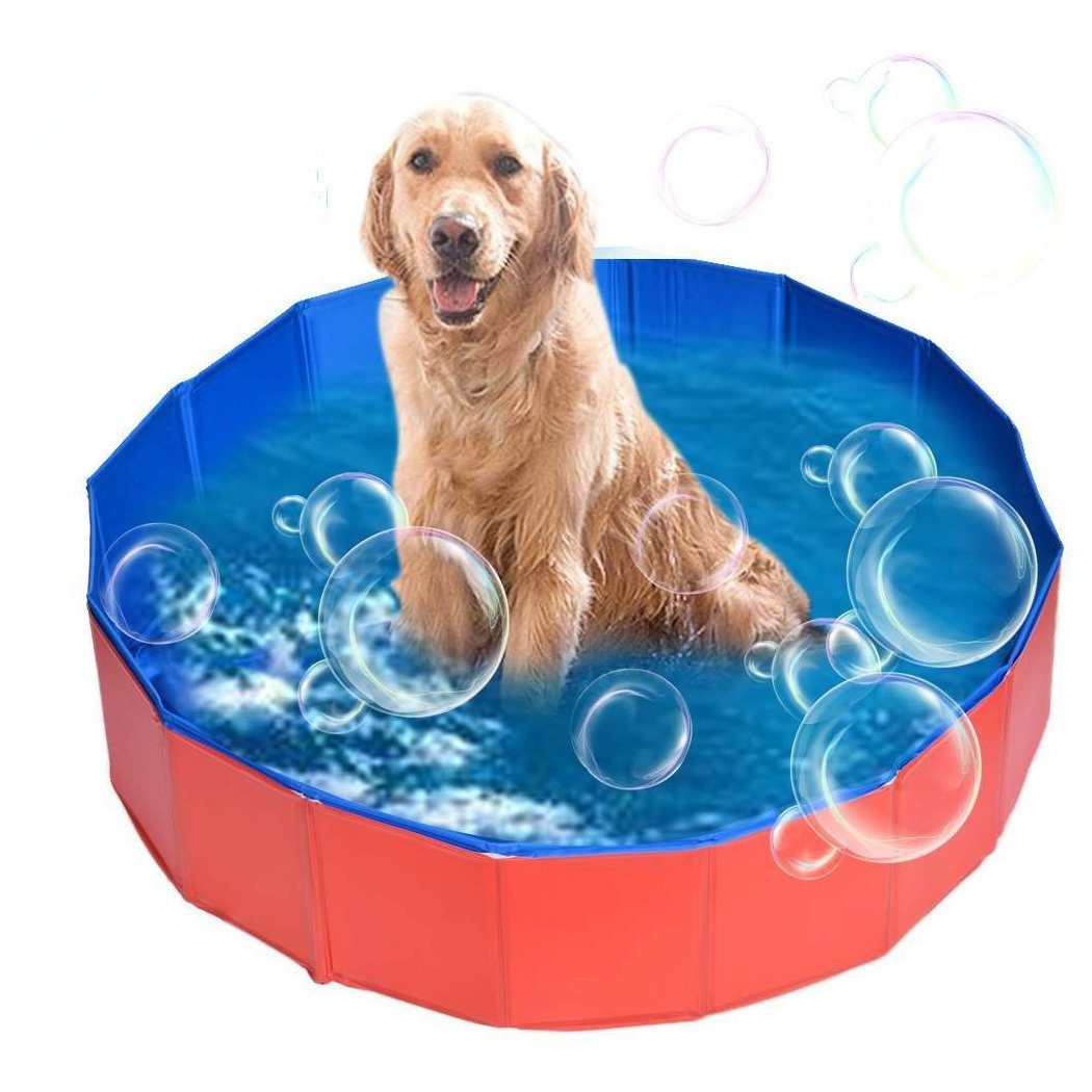 AceZone Collapsible Dog Bathtub Pet Bathing Tub Cats Dogs Swimming Pool Water Pond Kids Play Wash Tub (Small(32'' x 8''))