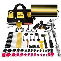 Mookis Paintless Dent Repair Tools 77PCS Tools with Slider Hammer Lifter Dent Lifter Bridge Puller Set LED Line Board Glue Stricks Pro Pulling Tabs Kit