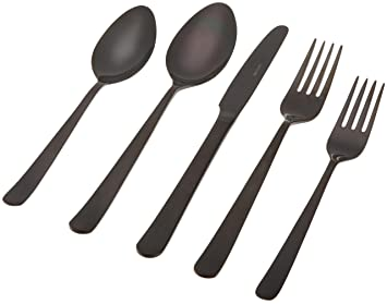 Herdmar Oslo Black 18/10 Stainless Steel 5-Piece Place Setting by Herdmar: Amazon.es: Hogar