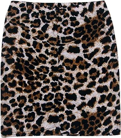Falda Mujer Leopardo Falda Mini Sexy Estampado Leopardo Apretada ...