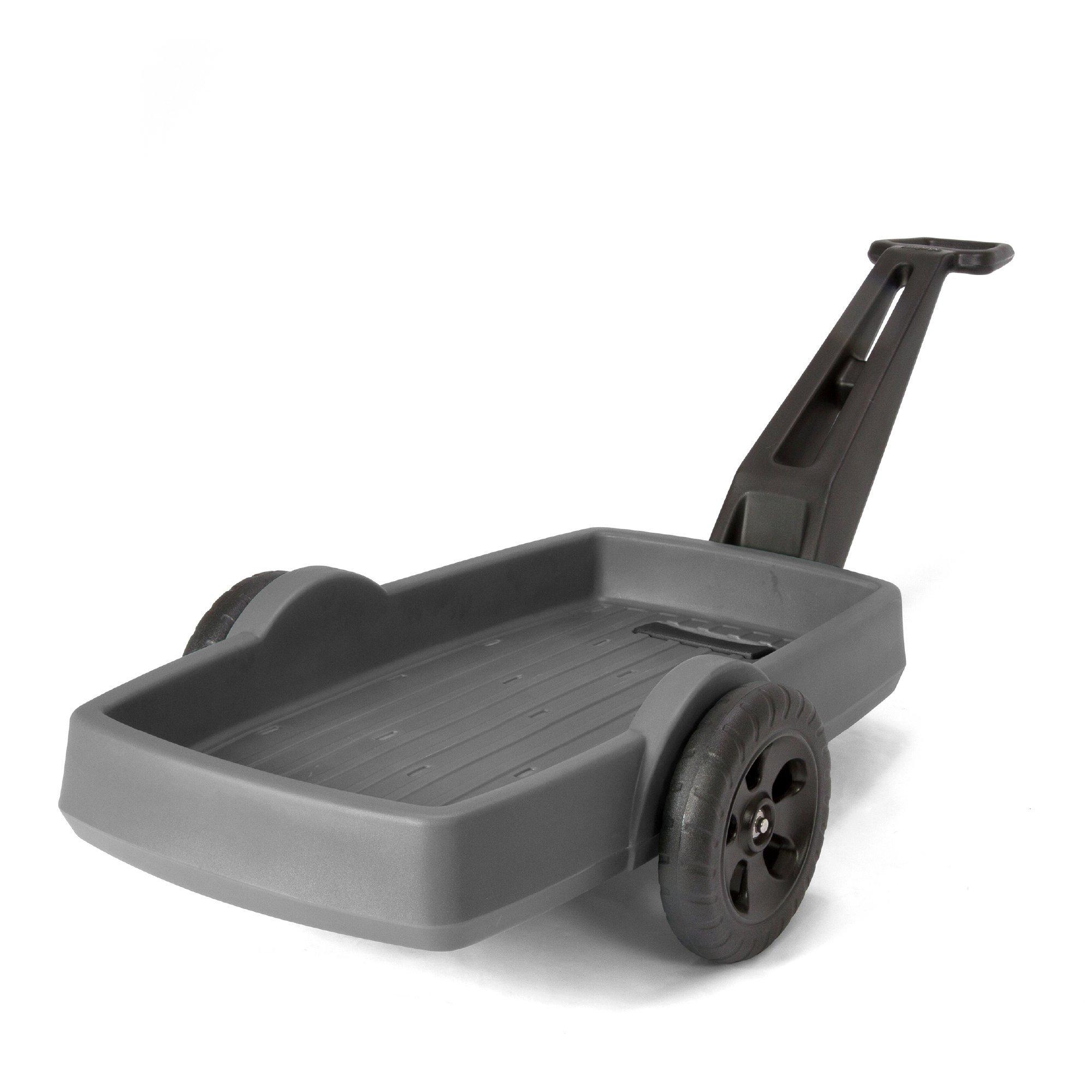 Simplay3 Easy Haul Plastic Flat Bed Yard and Garden Wagon, Heavy Duty 200 lbs. Capacity (Gray)