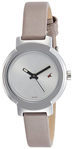 dacd883a3 Image Unavailable. Image not available for. Colour  Fastrack Analog Silver  Dial Women s Watch-NK6143SL02