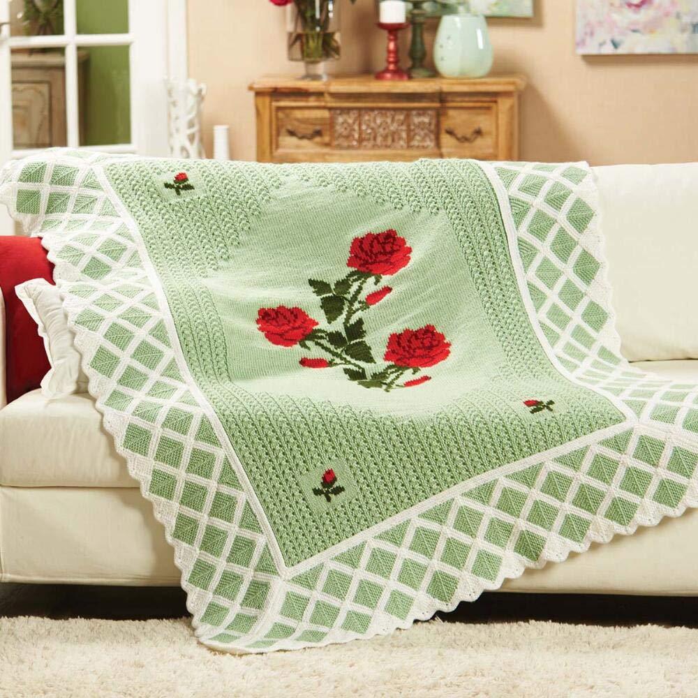 Herrschners® Rose Garden Afghan Kit