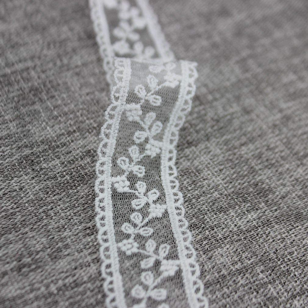 IDONGCAI 1.18 Wide 7 Yards//lot Exquisite Floret Embroidery Mesh Lace Trim White Cotton Mesh Lace Fabric DIY Sewing Accessories
