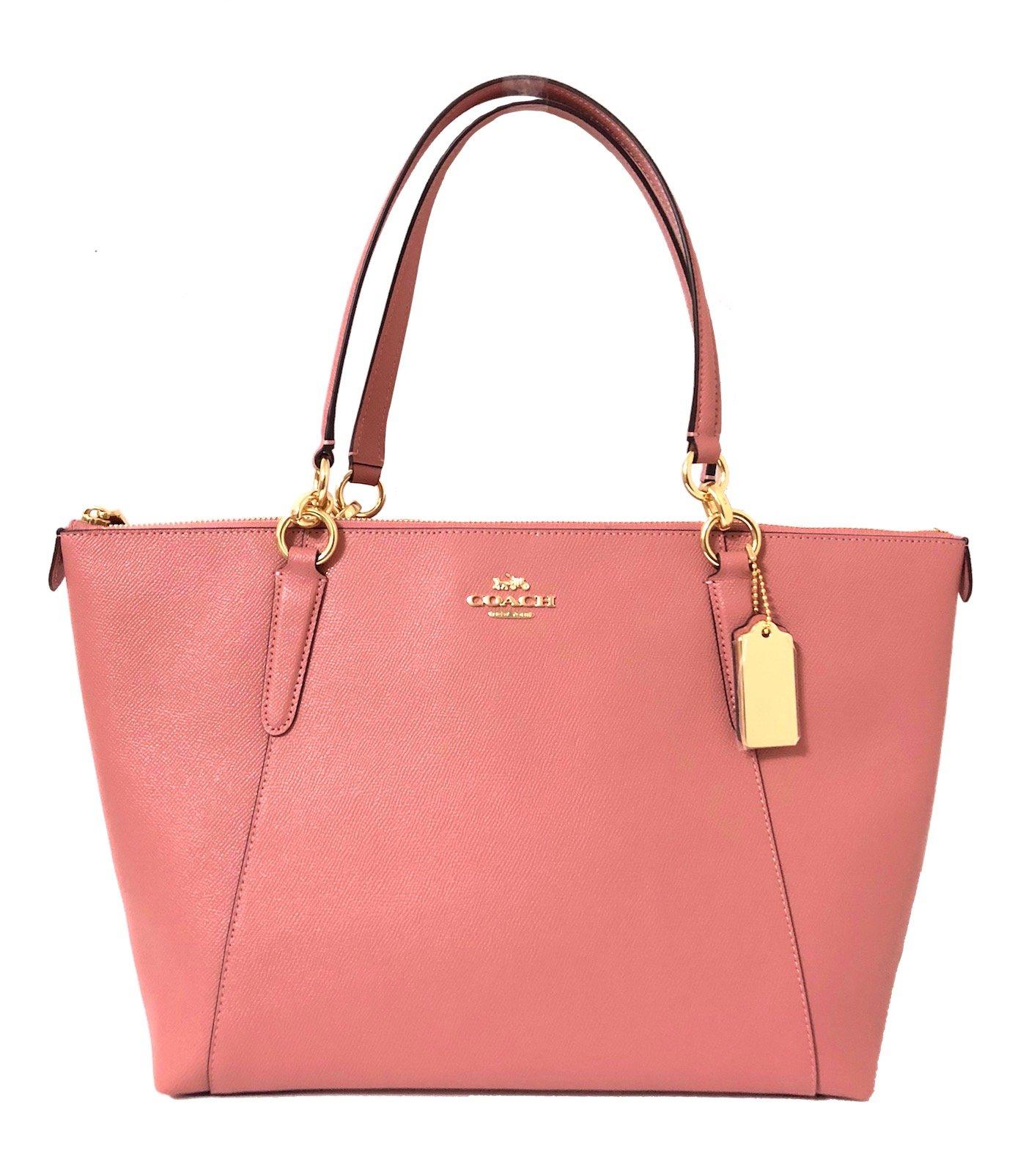 aa98de5455 Galleon - Coach AVA Leather Shopper Tote Bag Handbag (IM Vintage Pink)