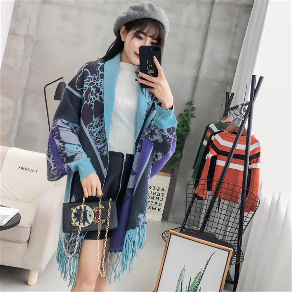 Long Dans Sweater Le Manteau Lâche Châle Zhangyong Frangé jLc3q54AR