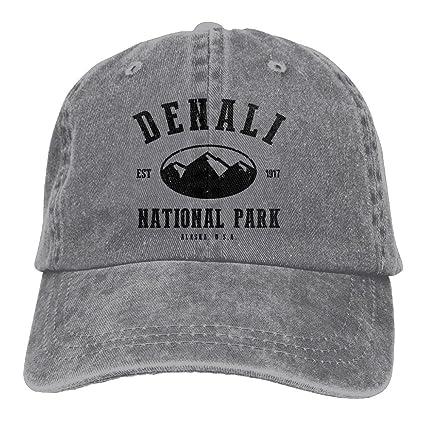 4dab3e4a Richard Denali National Park Adult Cotton Washed Denim Travel Hat Adjustable  Ash