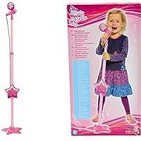 Simba Musik Karaoke Spielzeug Standmikrofon für Kinder Mikrofon Mikrophon 115cm