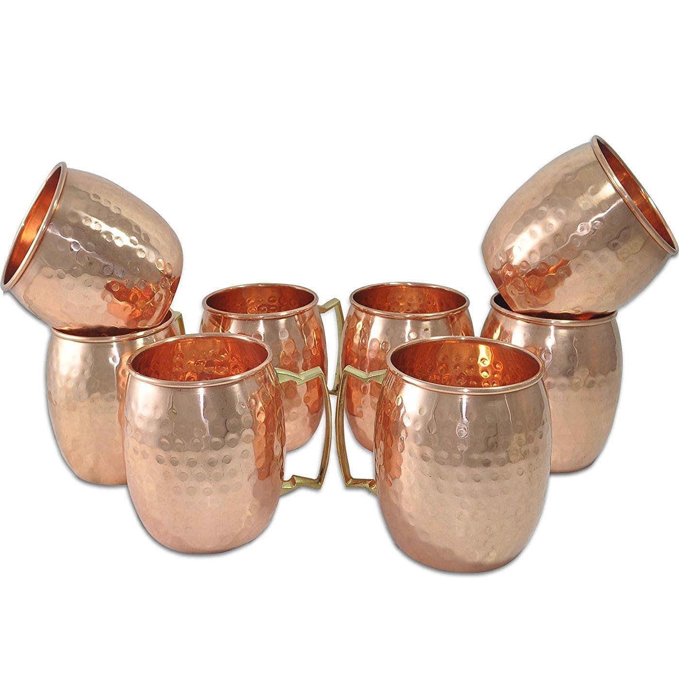 Figo Inc Handmade Pure Copper Hammered Moscow Mule Mug (8) by FIGO