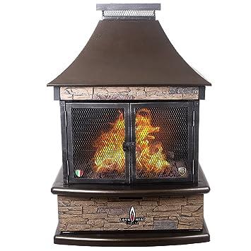 Amazoncom Lava Heat Italia LHILORENZOBTUHBNG BTU - Patio fire pit table natural gas