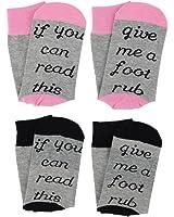 Unisex Funny Saying Knitting Word Novelty Cotton Crew Socks Gift for Women Men