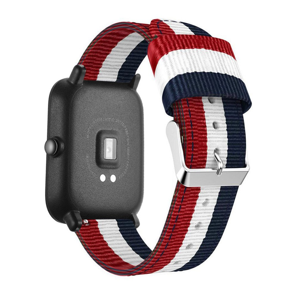 LANSKIRT Reloj de Pulsera de Nylon Tejida Reloj Pulsera de Correa repuestos de Relojes Recambio Brazalete Extensibles Pulsera para Xiaomi Huami Amazfit Bip: ...