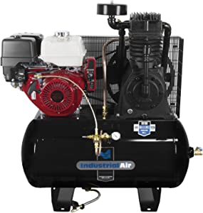 Industrial Air Contractor IH1393075 13 hp Two-Stage Truck Mount Air Compressor with Electric Start Honda Engine, 30 gallon
