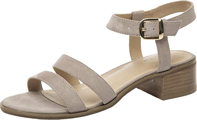 Low Block Heel Open Toe Double Strap