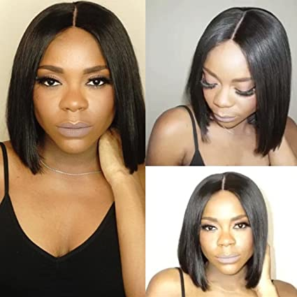 maycaur Bob Pelucas Para Las Mujeres Negro Natural Peluca Lace Front brasileño Cabello Completa Encaje pelo
