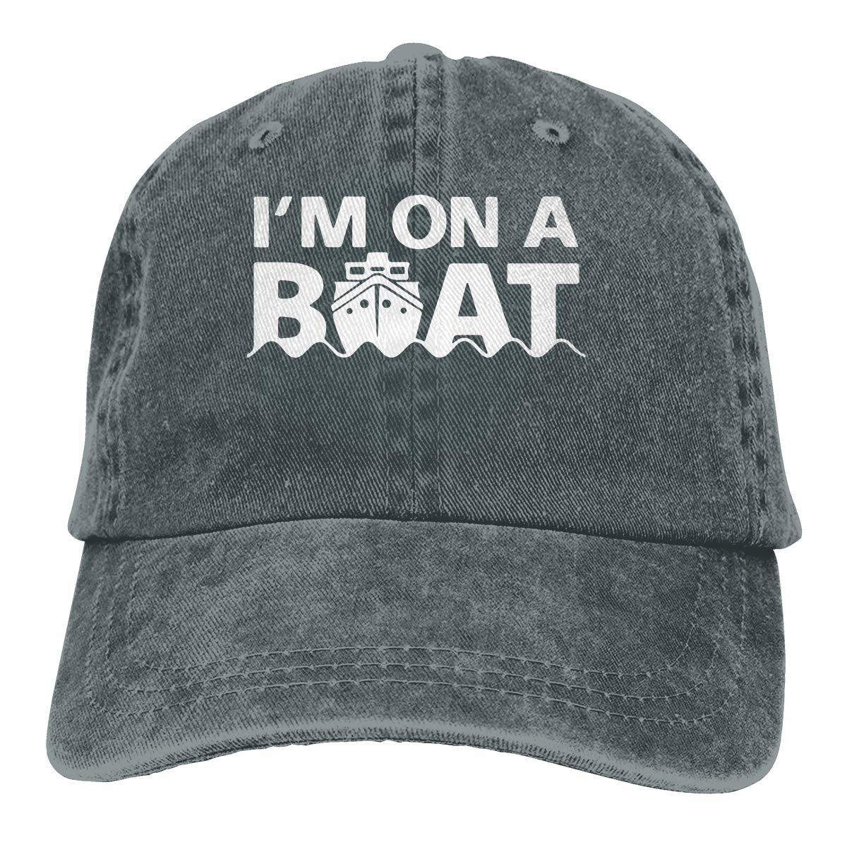 Im On A Boat Unisex Trendy Cowboy Outdoor Sports Hat Adjustable Baseball Cap