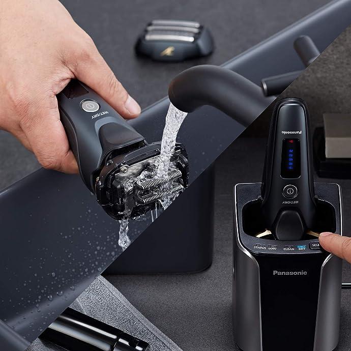 19年10月新款 Panasonic 松下 ES-LV97-K 干湿两用剃须刀 带充电座 史低 8折9.99史低 海淘转运到手约¥1491
