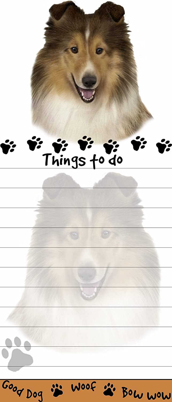 SHETLAND SHEEPDOG Sheltie Dog Magnetic NOTEPAD Note List Pad