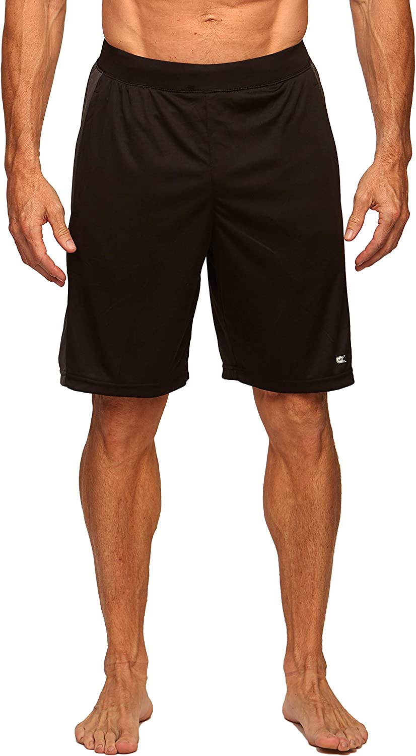 Colosseum Active Men's Four Way Stretch Gym Shorts with Elastic Waistband