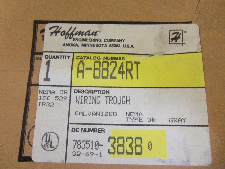Galvanized 8 x 8 x 24 Hoffman A8824RT Wire Trough Paint Finish NEMA 3R
