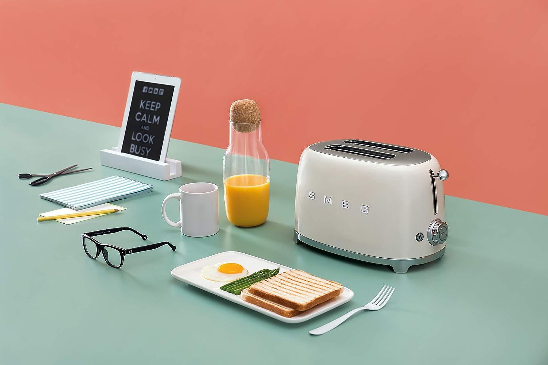 Smeg 2 Slice Toaster - Cream