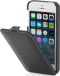 StilGut UltraSlim, housse en cuir pour iPhone 5, 5s & iPhone SE d'Apple, Noir nappa