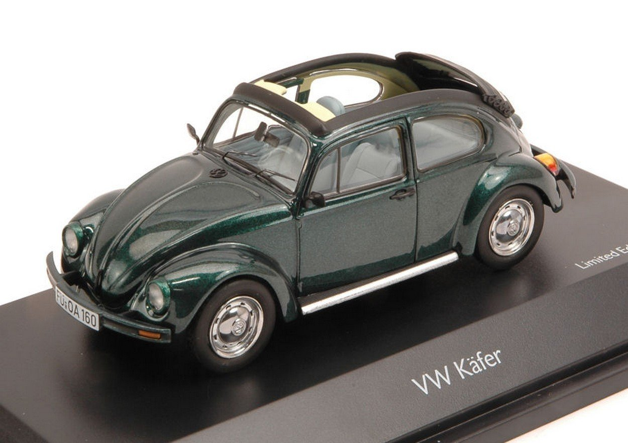 Schuco SH3878 VW KAFER Open Air Green 1:43 MODELLINO Die Cast Model
