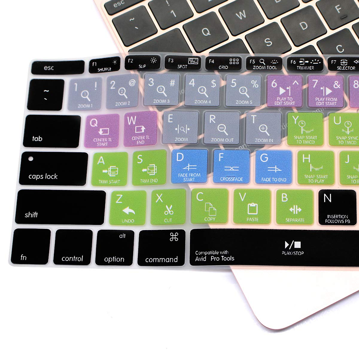 USA Layout /&A1931 HRH Adobe Photoshop PS Hotkey Silicone Keyboard Cover Skin Protective Skin for MacBook New Pro 13 A1708 A1988 No Touch Bar 2018 2017 2016 Release and MacBook 12 A1534 2018 2015