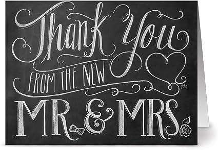 Amazon.com: Nuevo Mr. & Mrs. – 36 tarjetas de Nota de ...