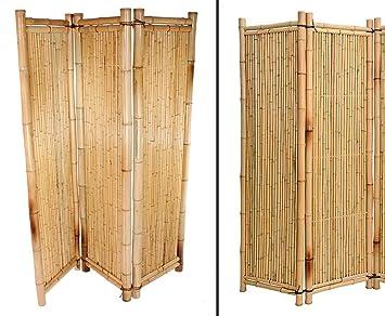 Raumteiler aus gelben Bambus, 180 x 180cm 3teilig - Raumtrenner ...