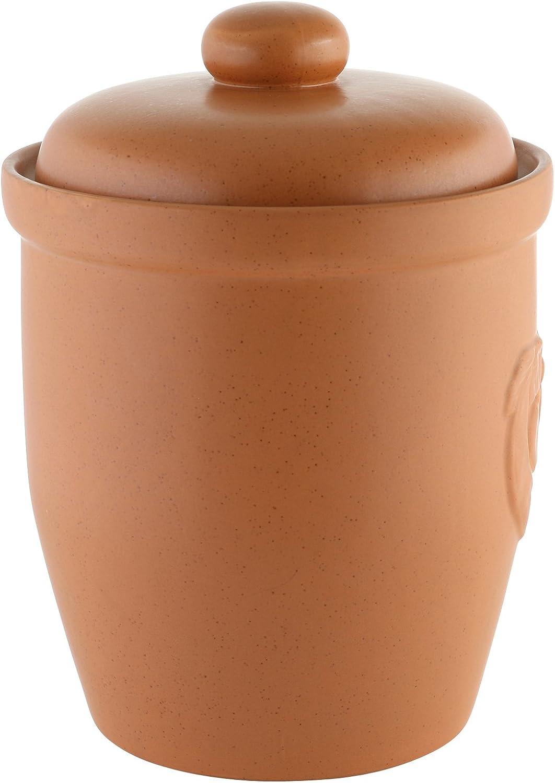Vaso Multiuso in Ceramica con Coperchio 10 Litri Axentia 820423 Colore: Marrone