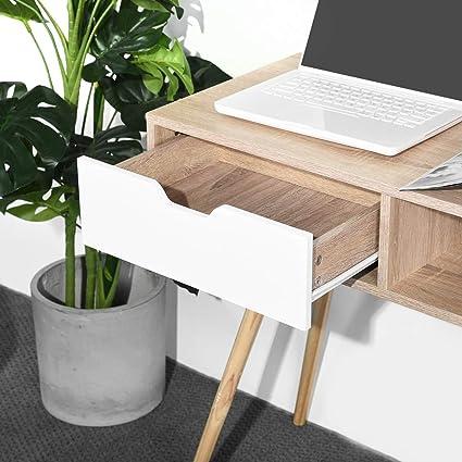 iHouse - Mesa de Escritorio para Ordenador con cajones, Color ...