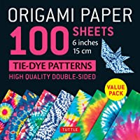 Origami Paper 100 sheets Tie-Dye Patterns 6 inch (15 cm): High-Quality Origami Sheets Printed with 8 Different Designs…