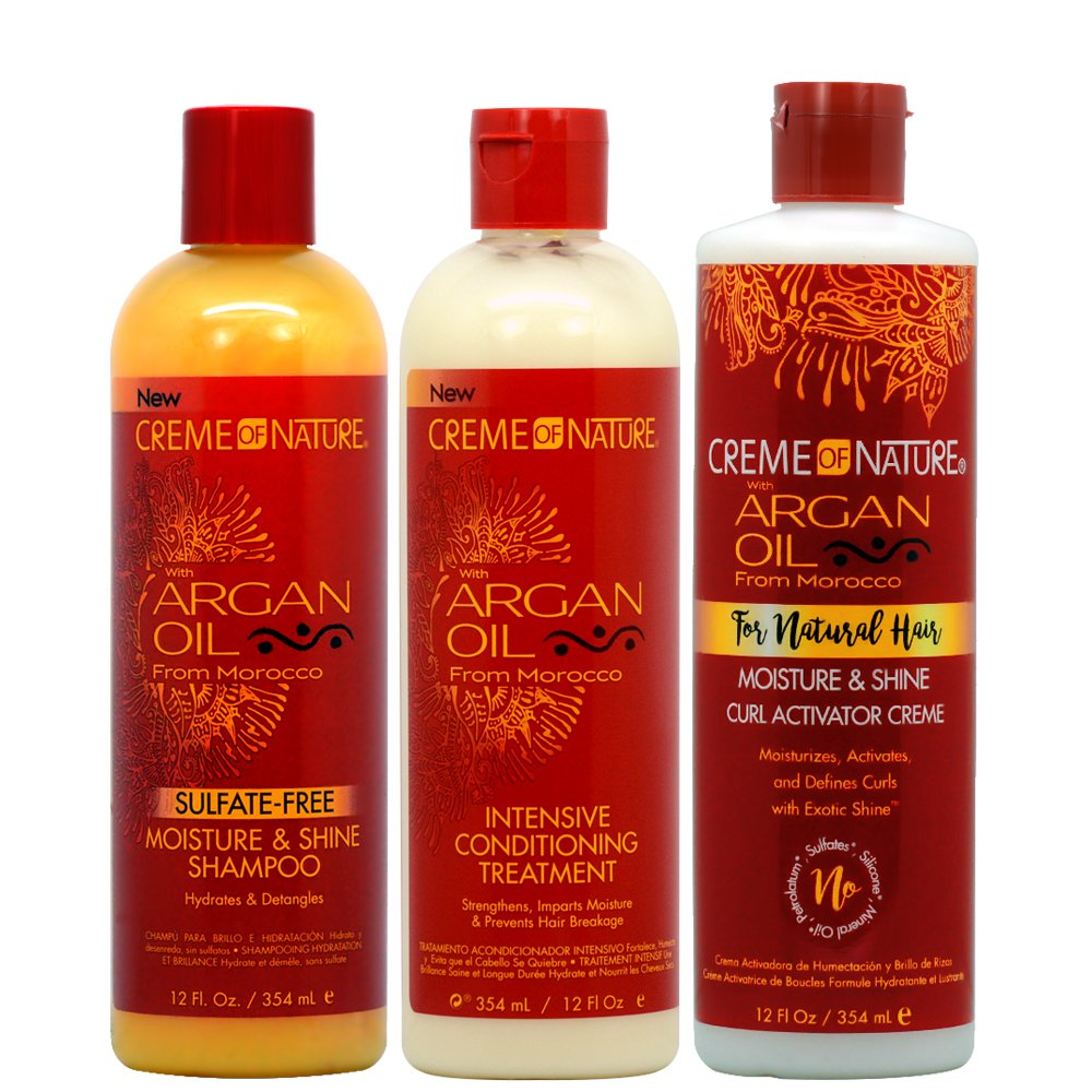 Creme of Nature Argan Oil Moisture Shampoo + Intensive Conditioning Treatment + Curl Activator