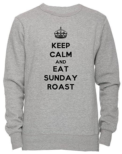 Keep Donna Felpa Maglione Unisex Sunday Uomo And Eat Roast Calm wPNn0Oym8v