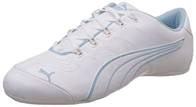 PUMA Women s Soleil v2 Comfort Fun White and Cool Blue Sneakers ... 84e5bbb06