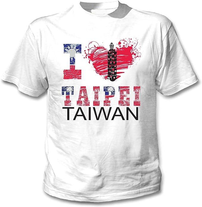teesquare1st Taiwan Taipei Camiseta Blanca para Hombre de Algodon ...
