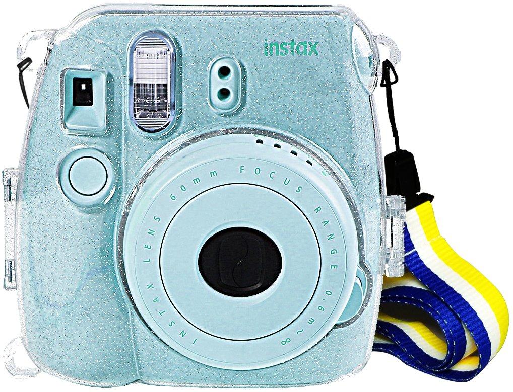 Amazon.com : Glittery Case for Fujifilm Instax Mini 9 Instant Camera ...