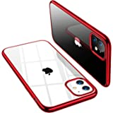TORRAS Crystal Clear iPhone 11 Case, [Anti-Yellow] Soft Silicone TPU Thin Cover Slim Phone Case for iPhone 11 6.1 inch 2019, Glossy Red