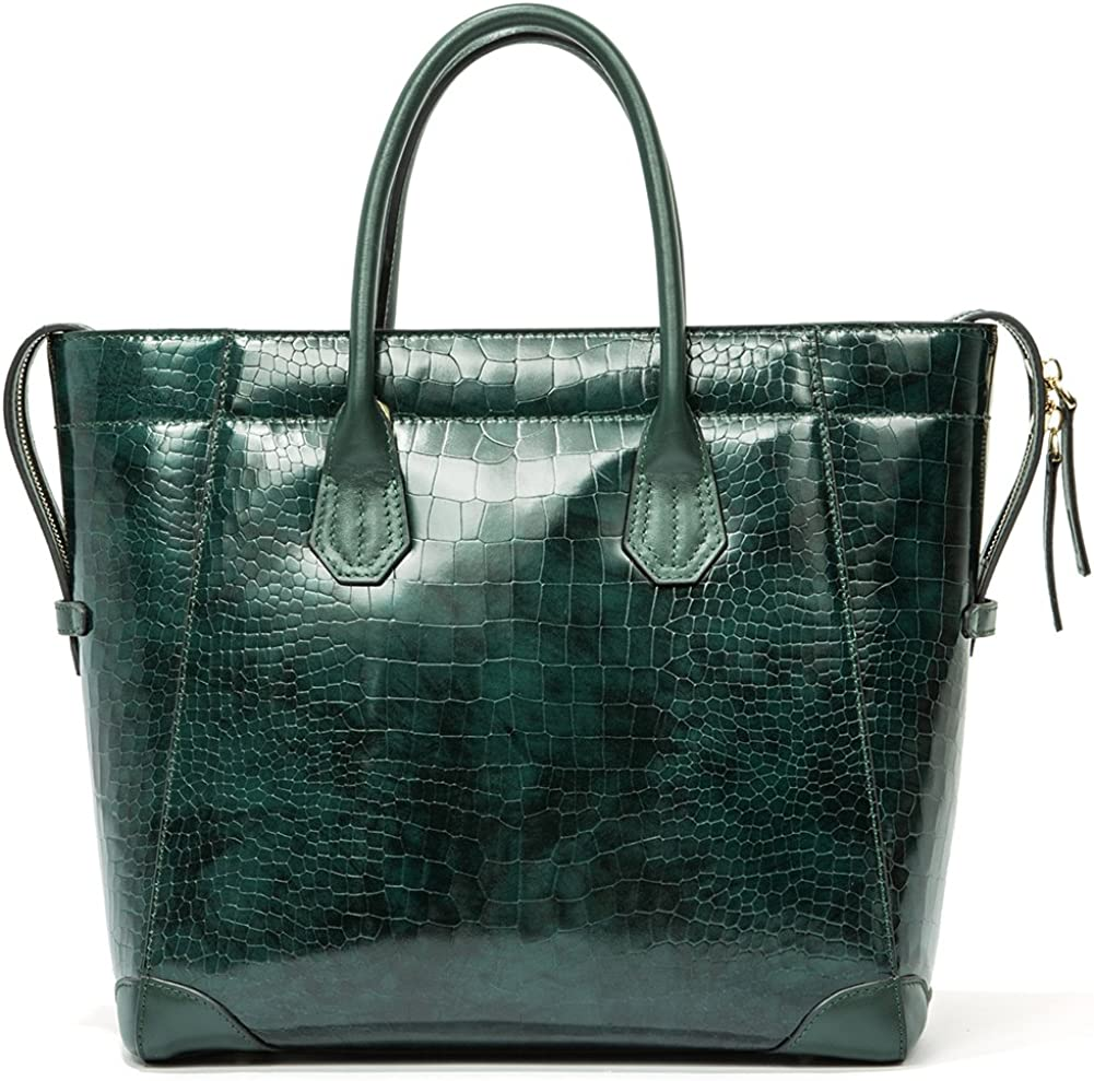 Women/'s Handbags Fashion Crocodile Business Cross-Body Top-Handle Luggage Bag