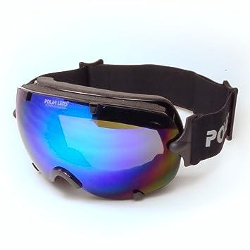 POLARLENS SERIES PG10-03 Snowboardbrille / Skibrille / Wintersport / Sonnenbrille mit FLASH-MIRROR-Verspiegelung + Microfaser-Tasche mit Putztuch-Funktion DiOHd